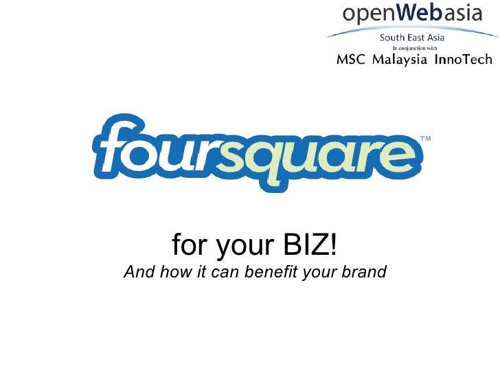 Foursquare for Biz