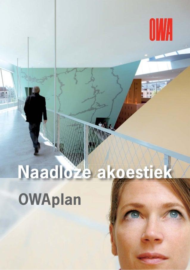 Naadloze akoestiek OWAplan