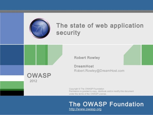 State of Web App Security 2012