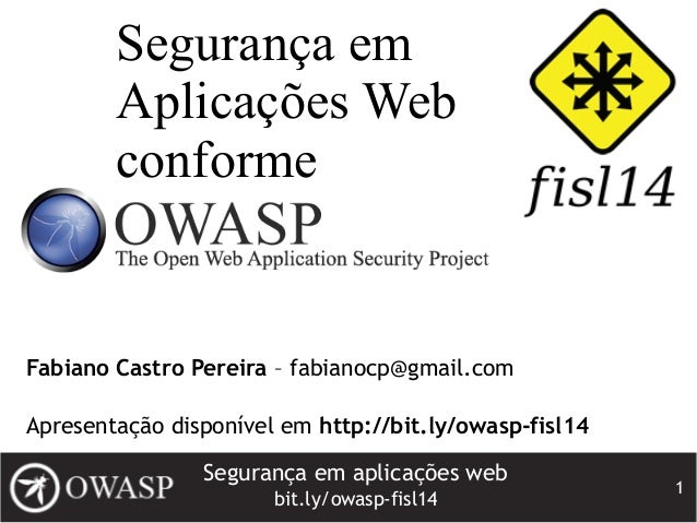 Segurança em Aplicações Web conforme OWASP