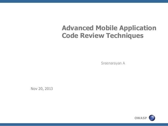 Owasp advanced mobile-application-code-review-techniques-v0.2