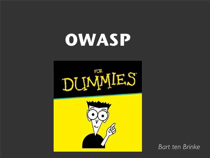 Owasp for dummies handouts
