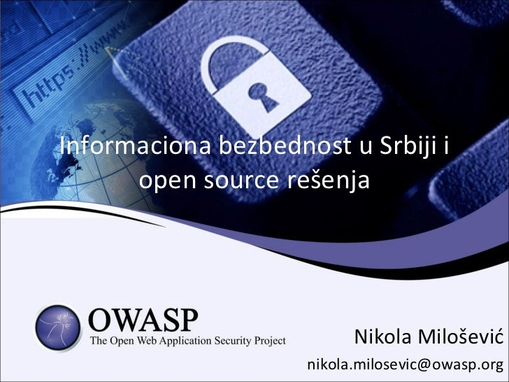 Software Freedom day Serbia - Owasp open source resenja