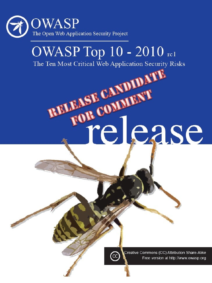 RC              Release Candidate               Important Notice  Request for Comments   OWASP plans to release the final ...