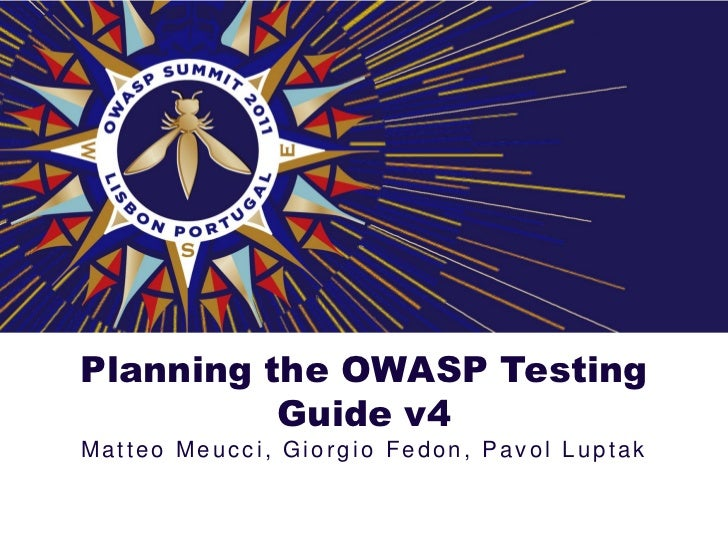 Planning the OWASP Testing Guide v4