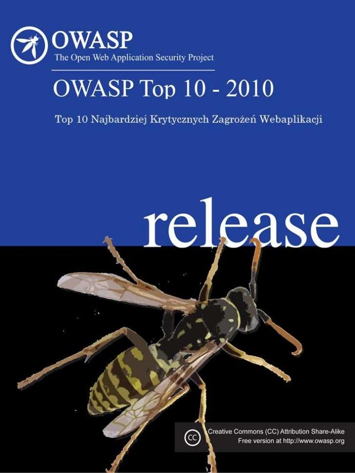 Owasp top 10   2010 final PL Beta