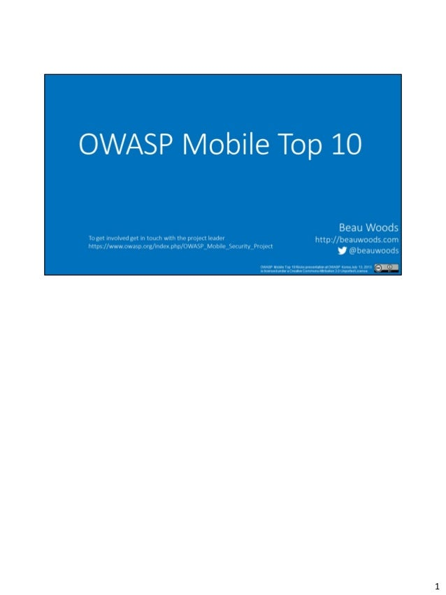 OWASP Mobile Top 10 Risks