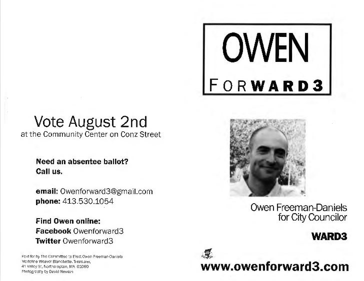 FORWARD3      Vote August 2ndat the Community Center on Conz Street       Need an absentee ballot?       Call us.       em...