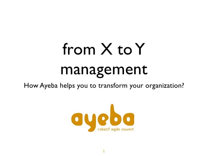 From management X to management Y