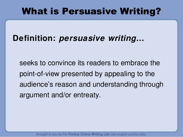 Definition of persuasive essay