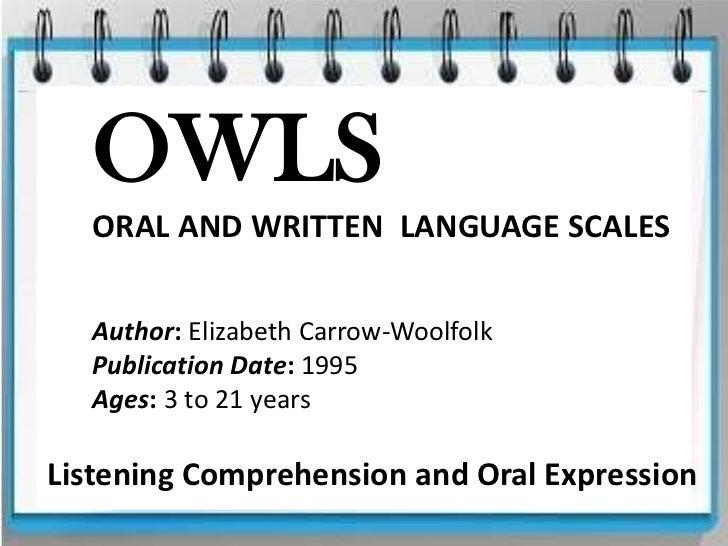 OWLS LANGUAGE SCALES