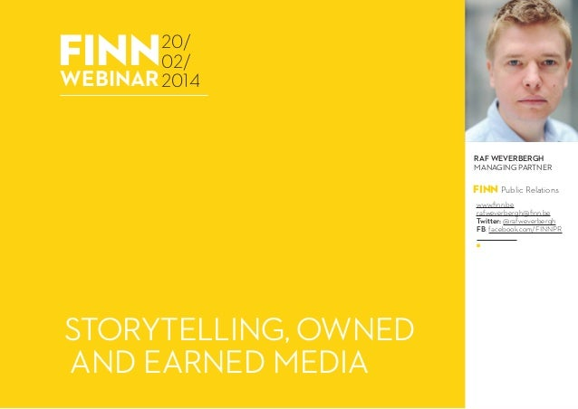 PR: how to use storytelling to make the jump from owned to earned media