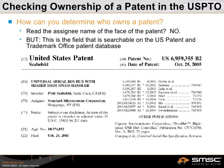 Uspto assignment