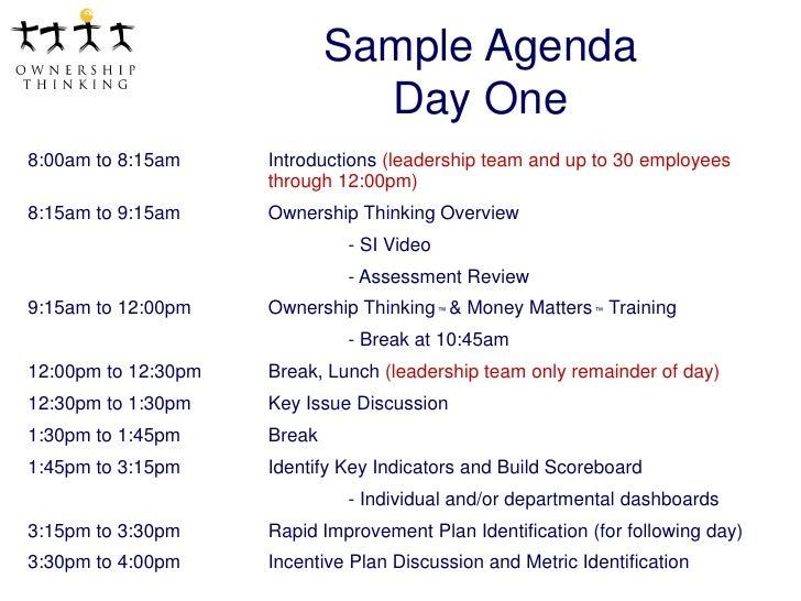 team meeting agendas