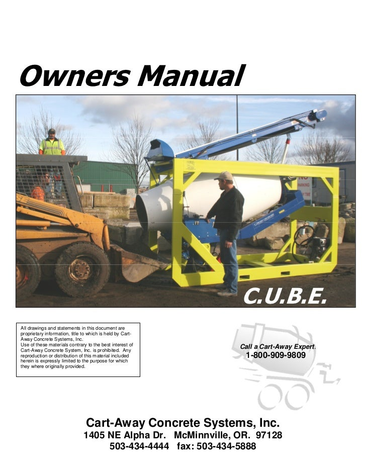 Owners Manual                                                              C.U.B.E.All drawings and statements in this doc...