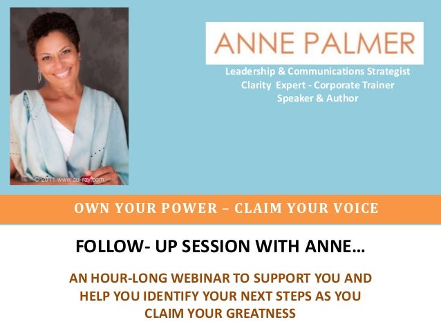 Leadership & Communications Strategist Clarity Expert - Corporate Trainer Speaker & Author  OWN YOUR POWER – CLAIM YOUR VO...