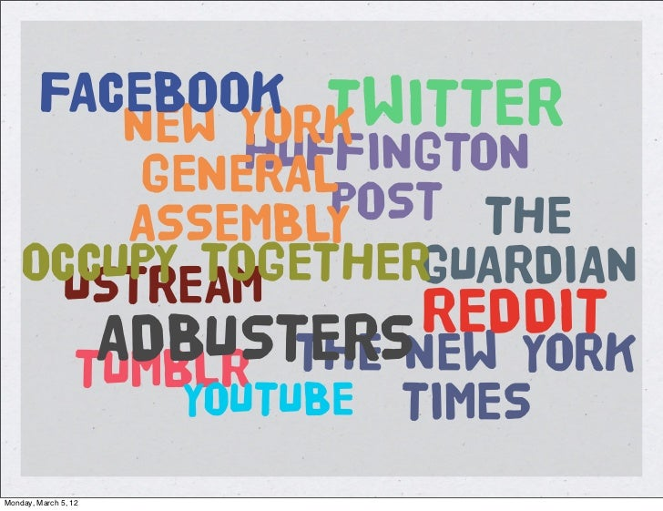 FACEBOOK TWITTER           NEW YORK             HUFFINGTON         GENERAL        ASSEMBLYPOST THE    OCCUPY TOGETHER     ...