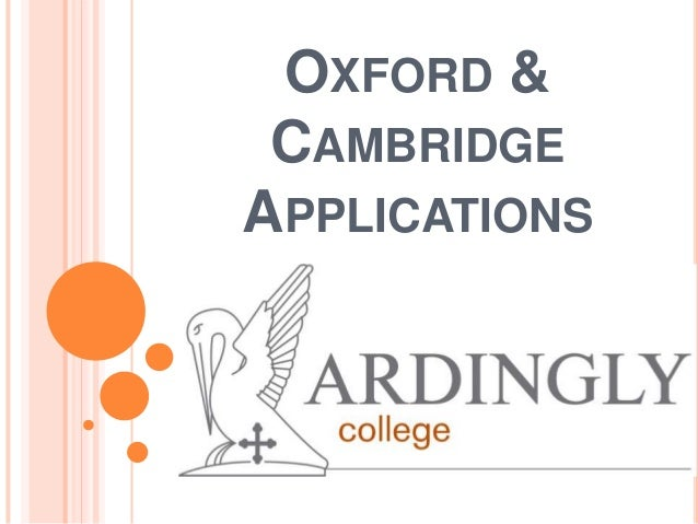 Ardingly Oxbridge Evening November 2013