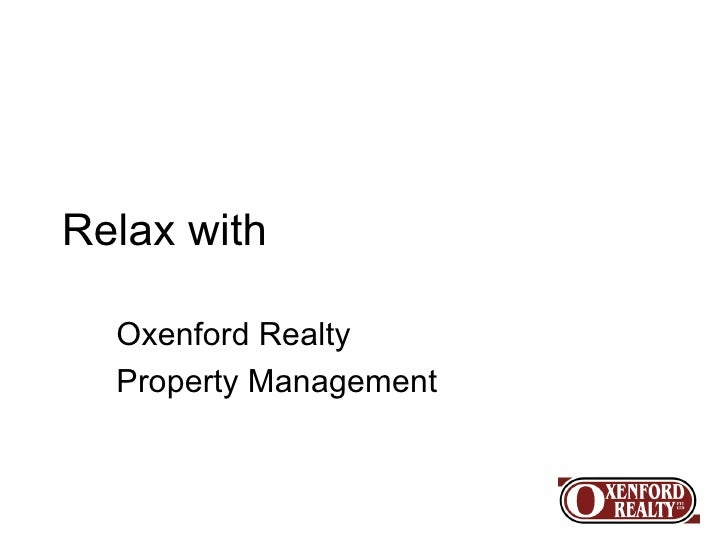 Relax with Oxenford Realty Property Management