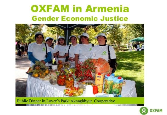 OXFAM in Armenia Gender Economic Justice Public Dinner in Lover's Park: Aknaghbyur Cooperative