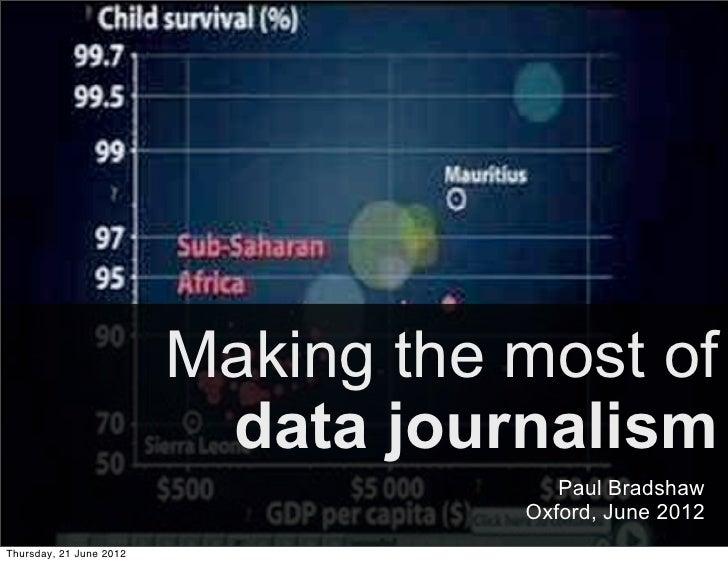 Making data journalism work