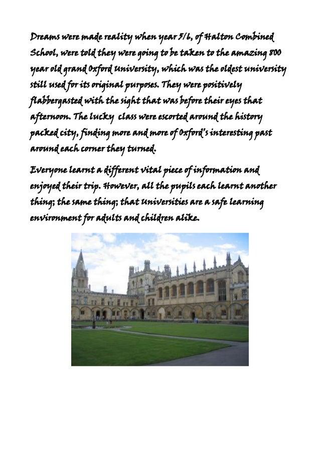 Oxford for joy