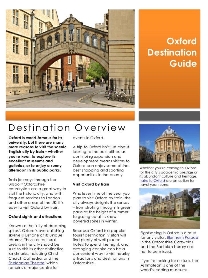 Oxford                                                                               Destination                          ...