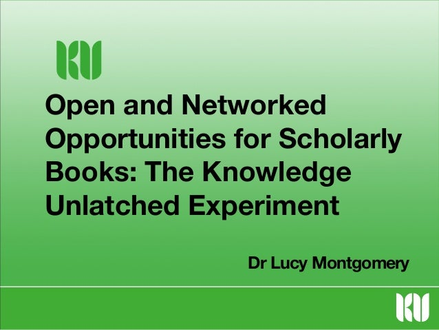 Open and Networked Opportunities for Scholarly Books: Oxford Center for Socio-Legal Studies Seminar