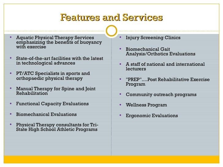 Example rehabilitation business plan