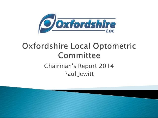 Oxfordshire local optometric committee ppt 2014 final