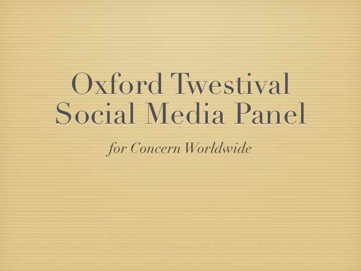 Oxford Twestival Panel2010