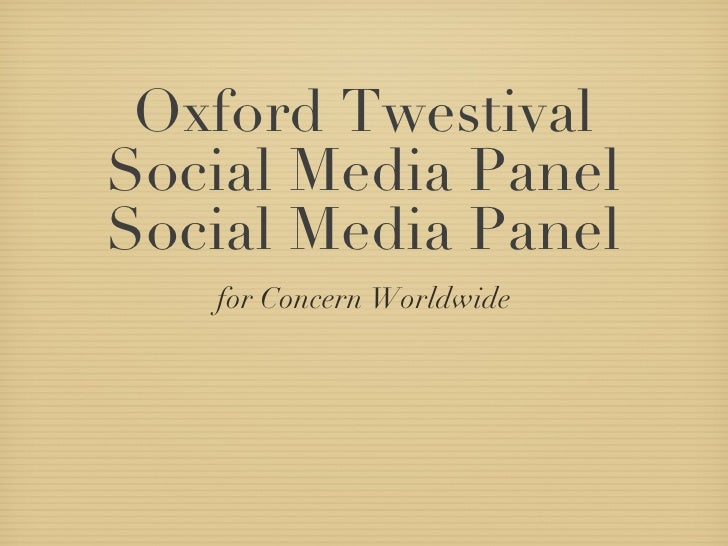 Oxford Twestival Panel 2010