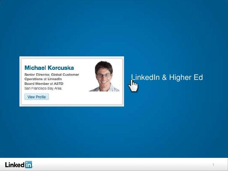 LinkedIn & Higher Ed                       1