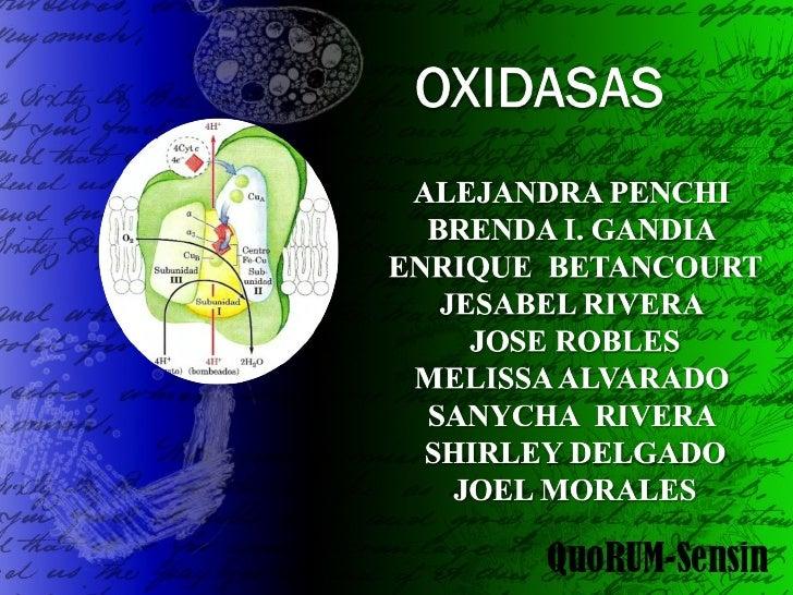 Oxidasas quorumsensin