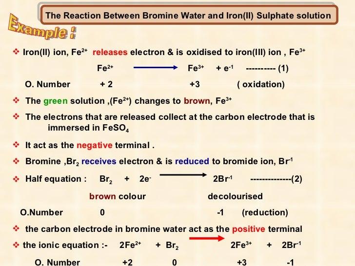 Bromine Reaction Reaction Between Bromine