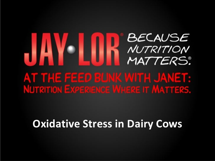 Oxidative Stress in Dairy Cows