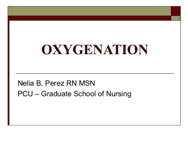OXYGENATIONNelia B. Perez RN MSNPCU – Graduate School of Nursing