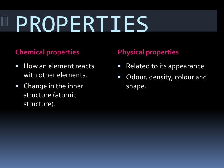 O Chemical And Physical Properties