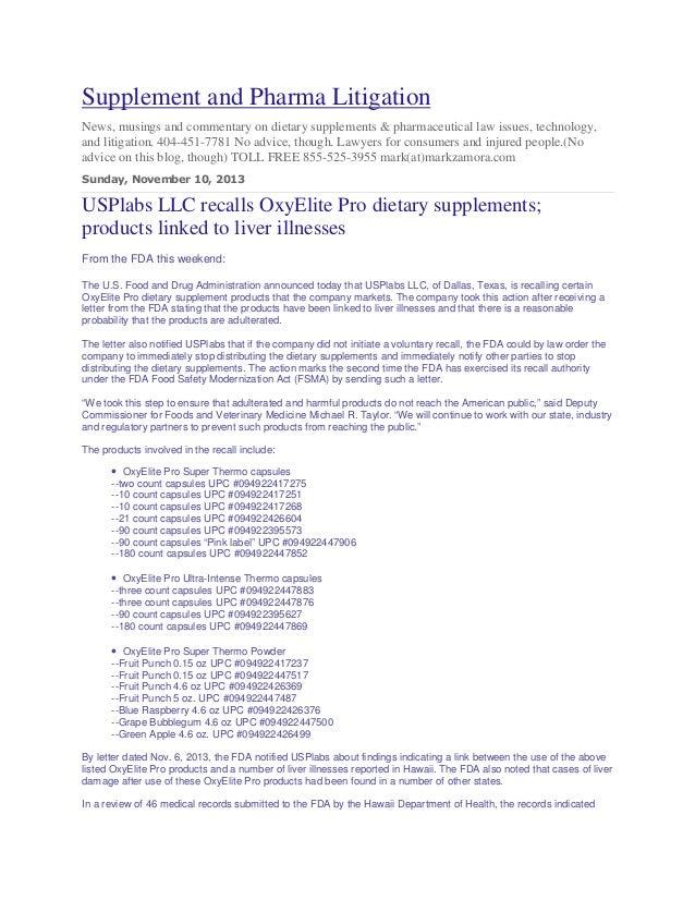 Oxyrecall Pro  Recall November 2013 Attorneys 404 451 7781