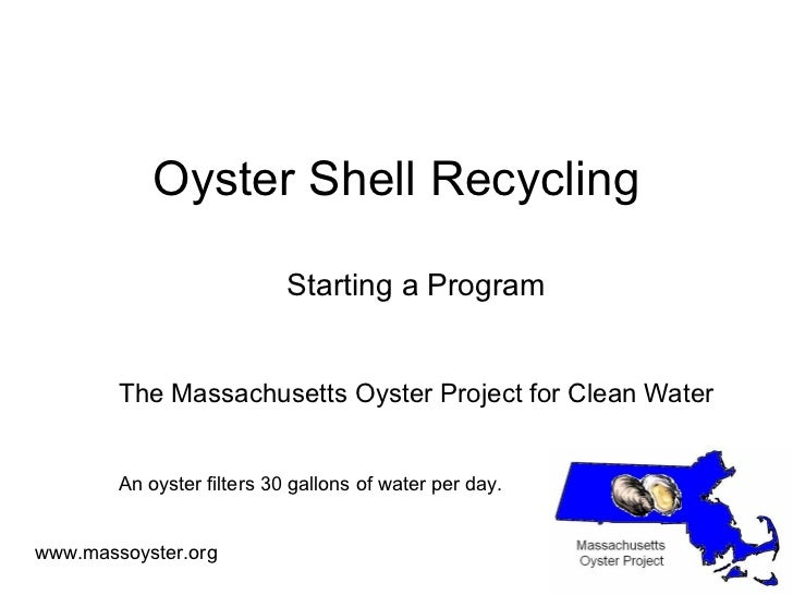 Starting an Oyster Shell Recycling Program