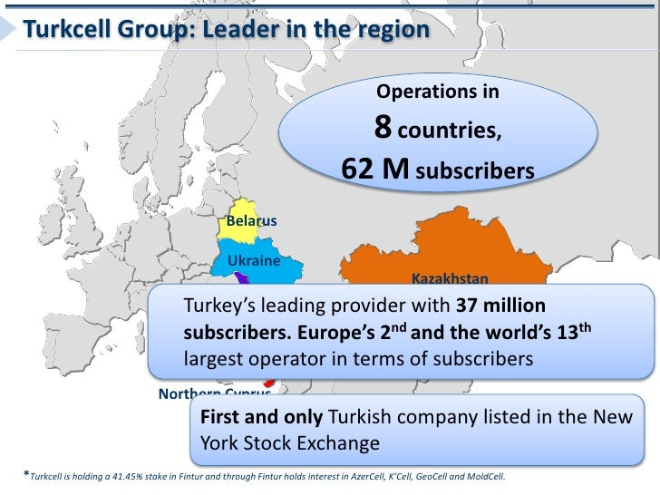 Turkcell Group: Leader in the region                                                                                      ...