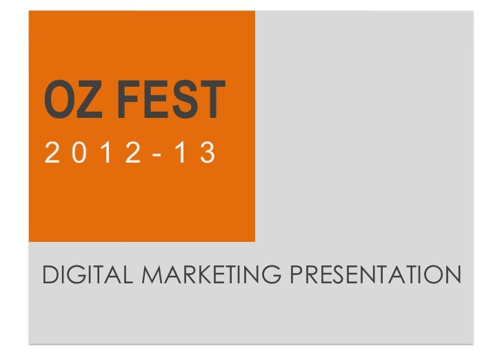 Oz fest digital marketing strategy