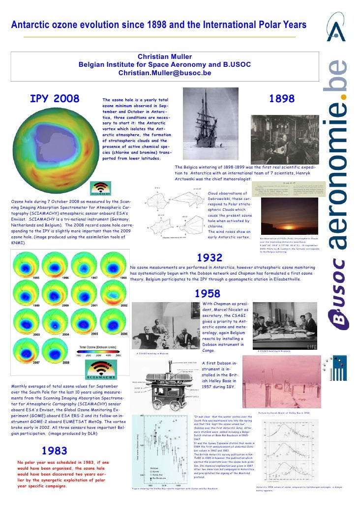Antarctic ozone evolution since 1898 and the International Polar Years                                                    ...