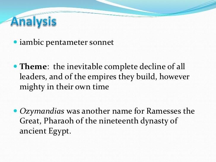"ozymandias theme essays Sample ozymandias essay mighty despair: power and irony in "" ozymandias"" ""ozymandias, "" shelley's famous poem, reveals the impermanence of human."