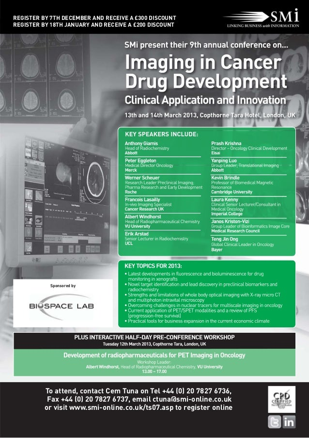 Smi's 9th annual Imaging in Cancer Drug Development event