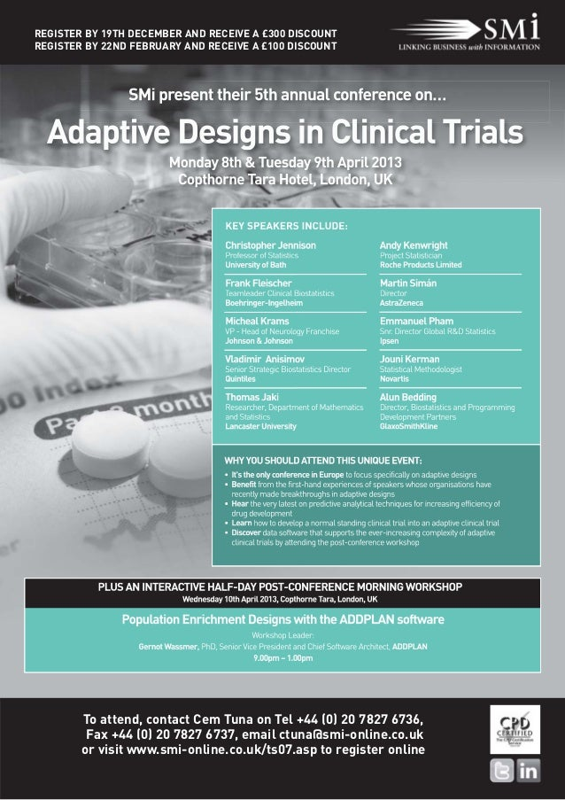 SMi's 5th annual Adaptive Designs in Clinical Trials event