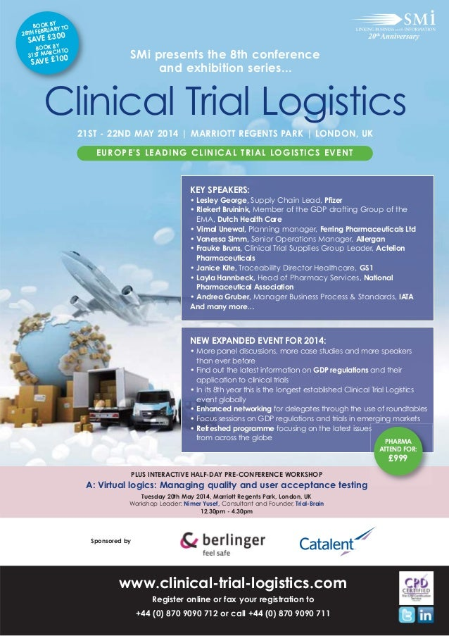 SMi Group's 8th annual Clinical Trial Logistics conference & exhibition