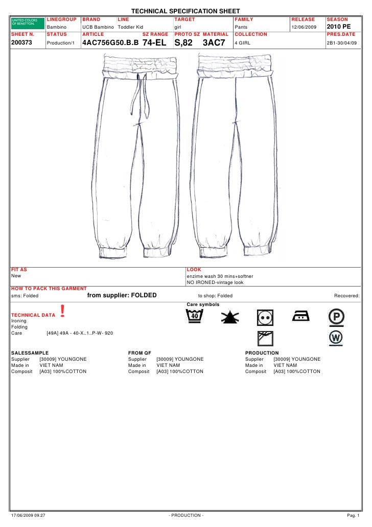TECHNICAL SPECIFICATION SHEET                   LINEGROUP      BRAND       LINE                   TARGET                  ...
