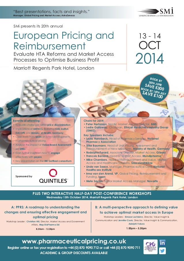 SMi Group's 20th annual European Pharmaceutical Pricing & Reimbursement conference