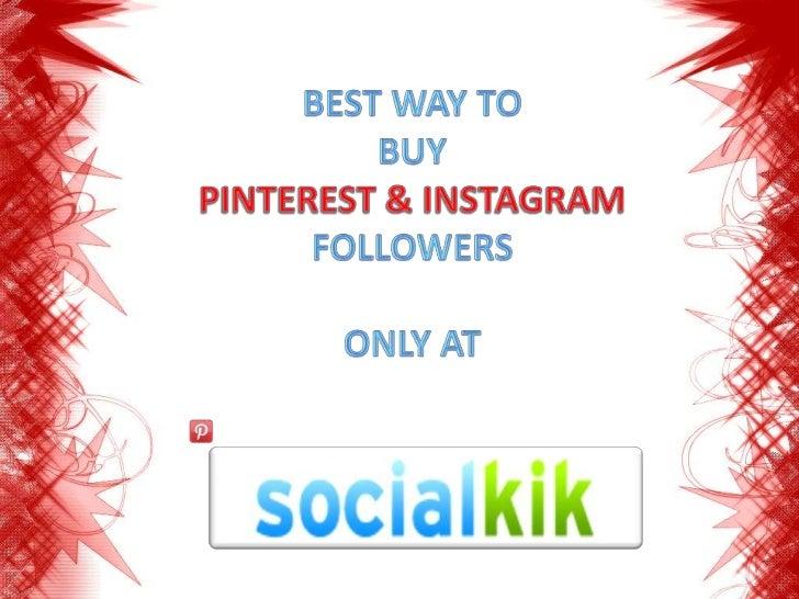 Buy PINTEREST & INSTAGRAM Followers